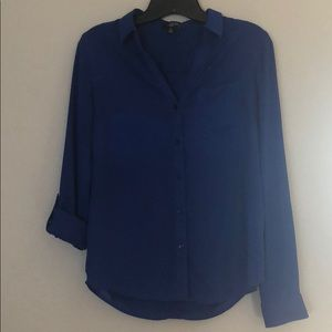 The Limited Blue Button Down Blouse